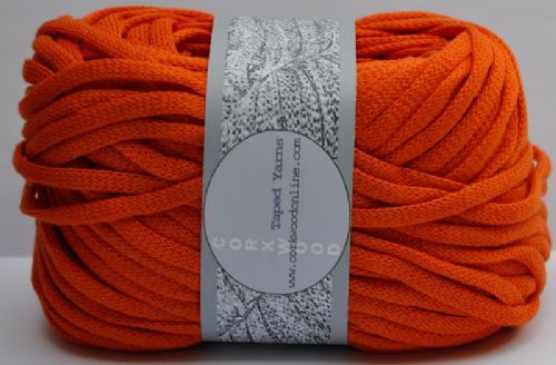 Sunset Orange cotton Chunky Tape yarn 100g ball